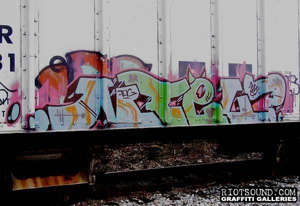 Graffiti On Freight Train 001