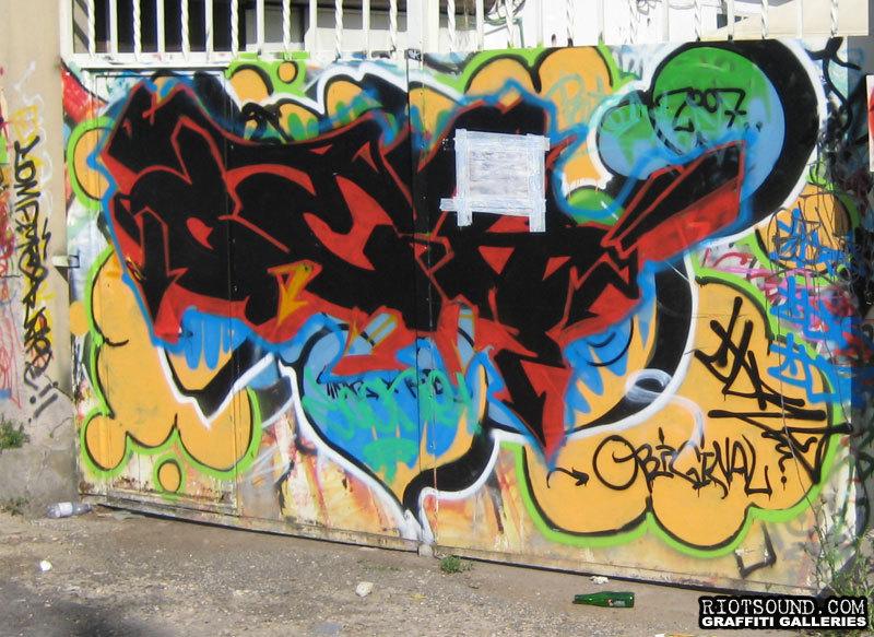 Graffiti On Gate