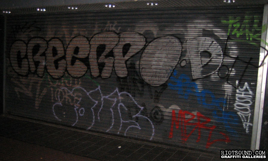 Graffiti On Roll Down Gate