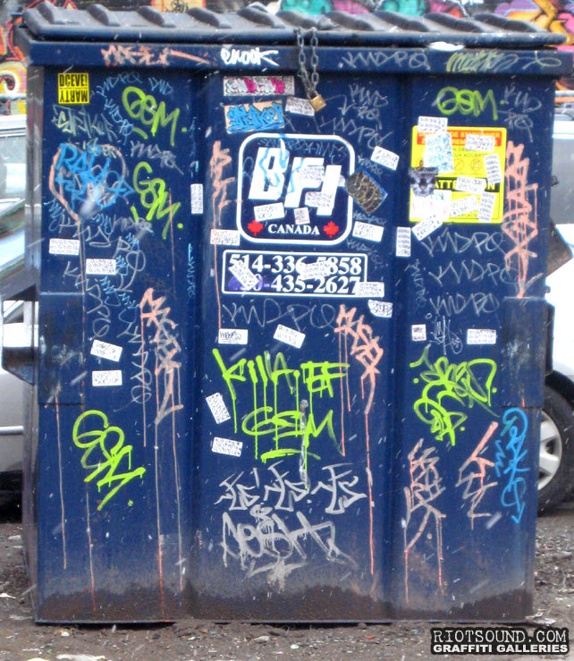 Graffiti Tags On Dumpster
