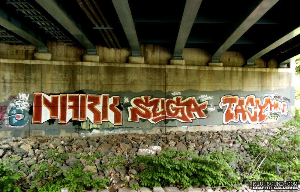 Graffiti Under Bridge