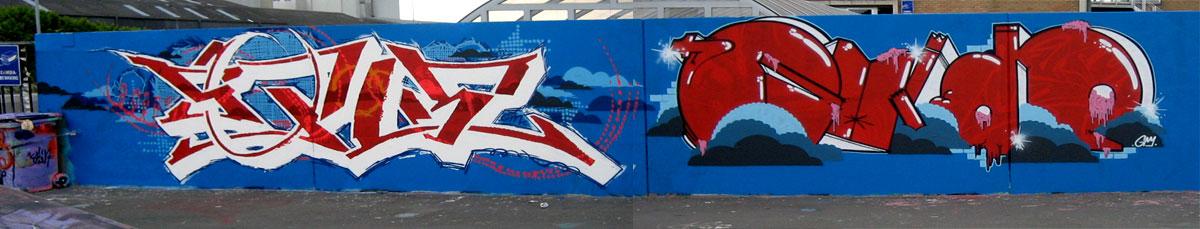 Graffiti Wall In Belgium