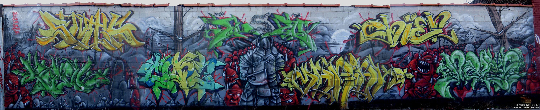 Graffiti Wall In Bronx NYC