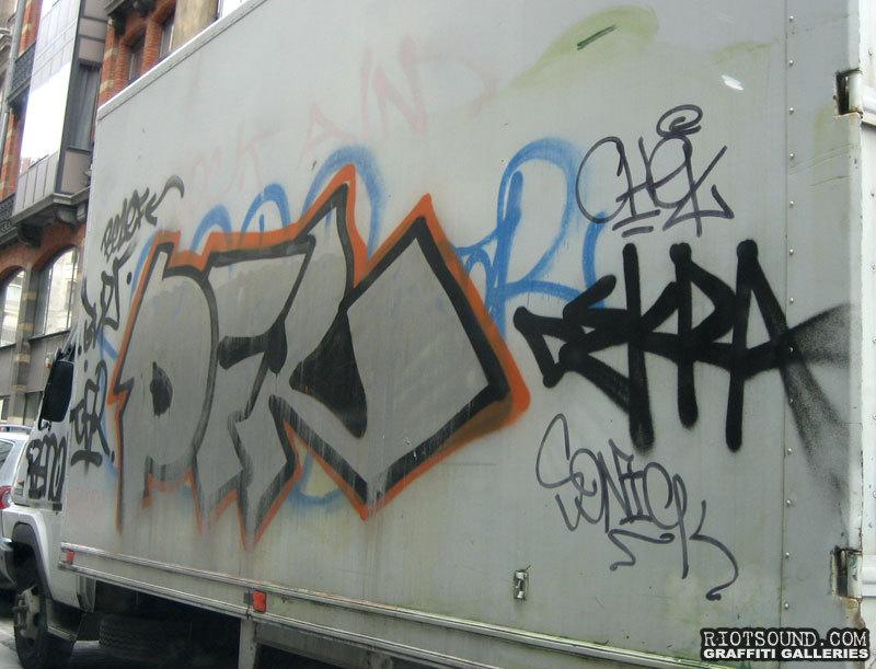 Graffiti on truck in Brussels