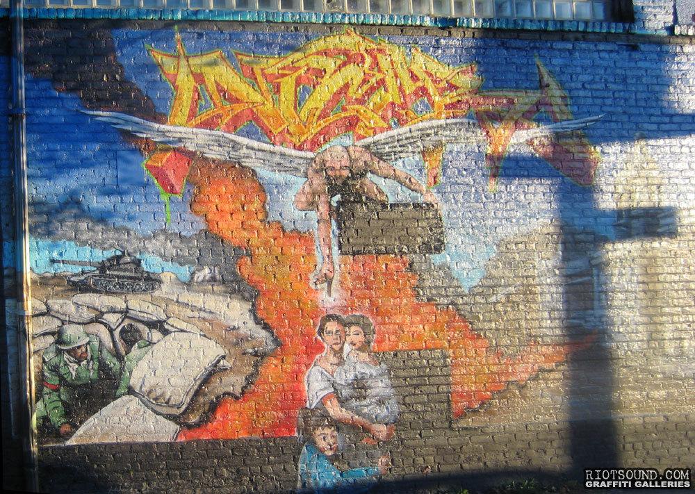 Mural Depicting War