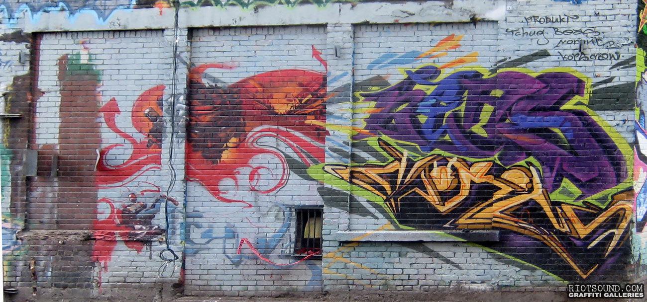 Mural On Brick Wall