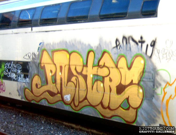 Passenger Train Graffiti