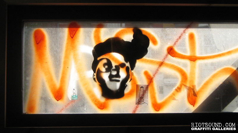 Stencil Art On Glass