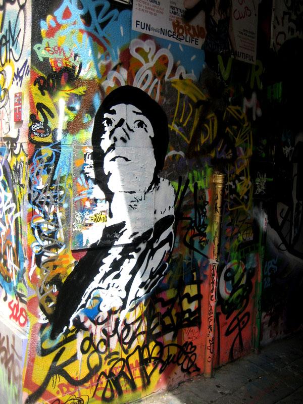 Stencil Street Art In Belgium