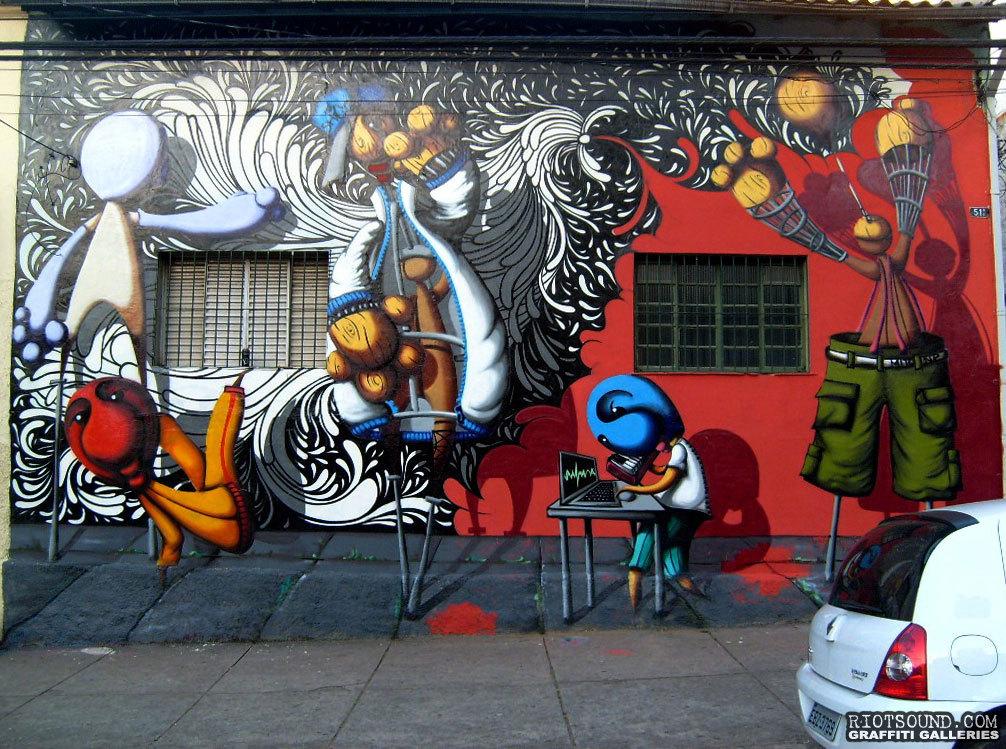 Street Art Mural Brazil 1