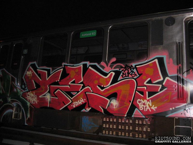 Train Graffiti Art