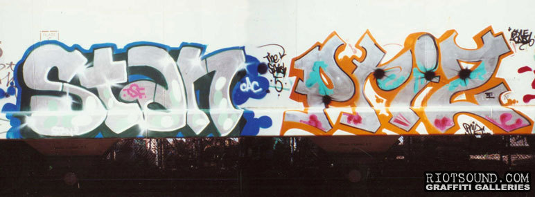 freight train graff artwork