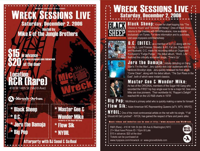 Wreck Sessions DEC 2006