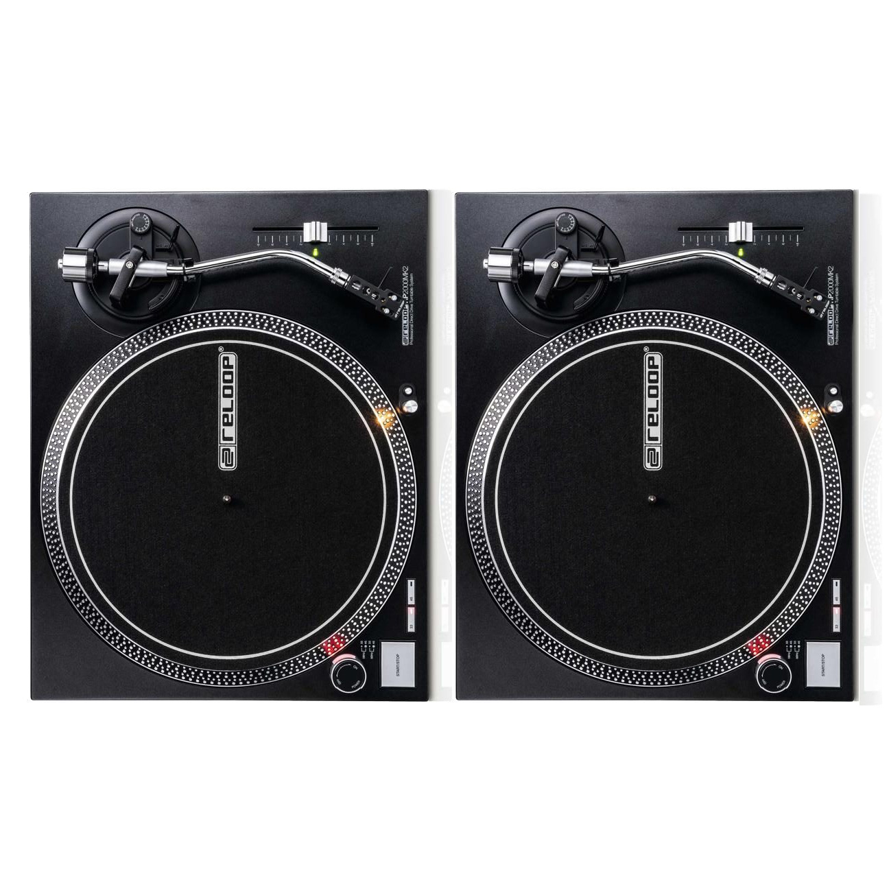 Reloop RP-2000 MK2 USB - Twin Set of Professional Direct-Drive USB Turntable